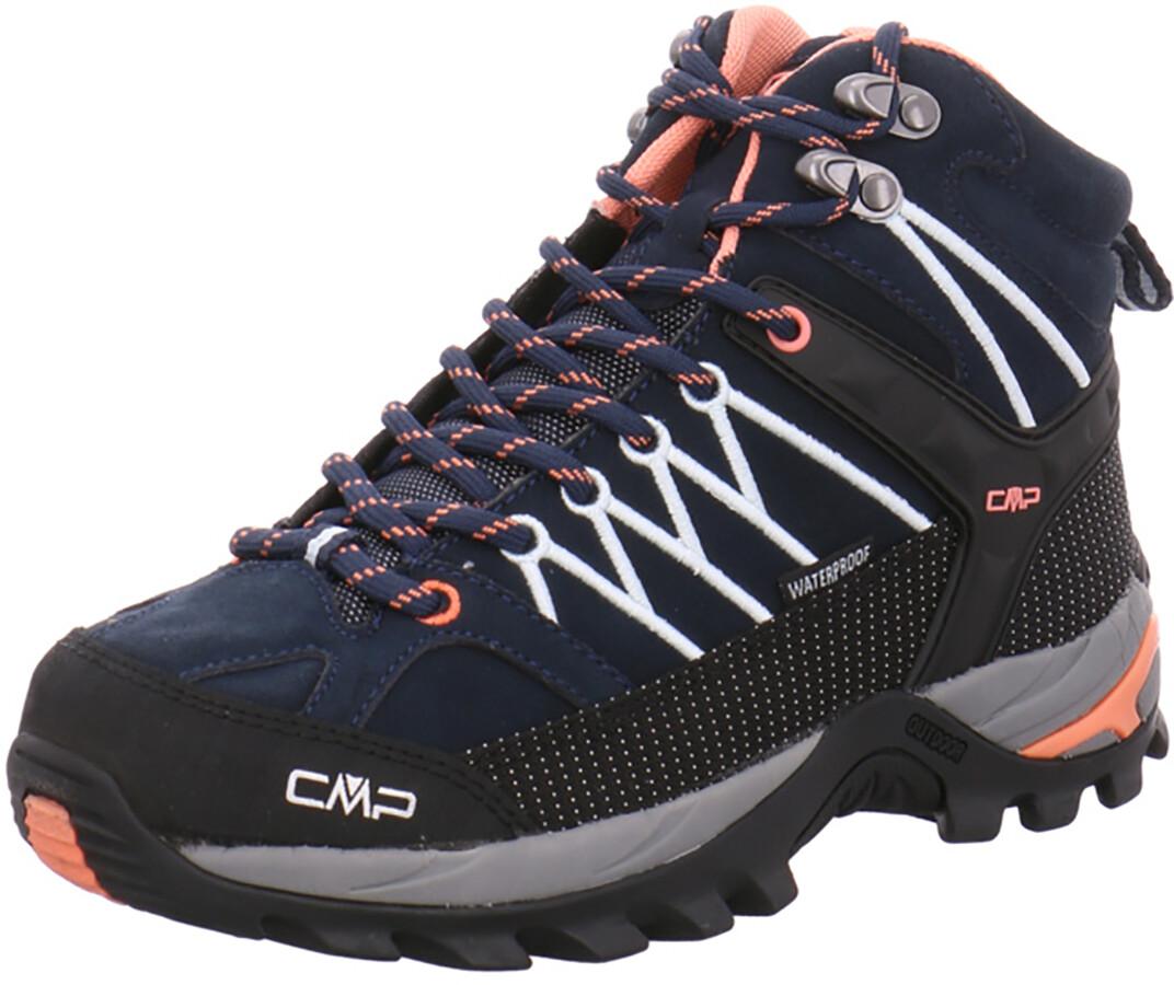 CMP Campagnolo Rigel WP Chaussures de trekking mi hautes Femme, black blue giada peach